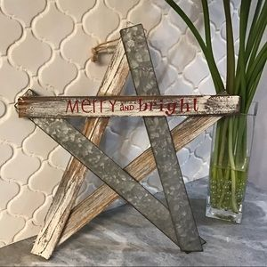 Other - Wooden Star Christmas Decor